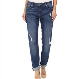 Michael Kors Dillon Relaxed Fit Distressed Jeans 8